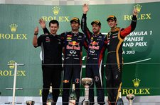 FORMULA 1: Japan - Vettel wins, doesn't clinch title (yet...). Webber 2nd, Grosjean 3rd. Oct 13, 2013