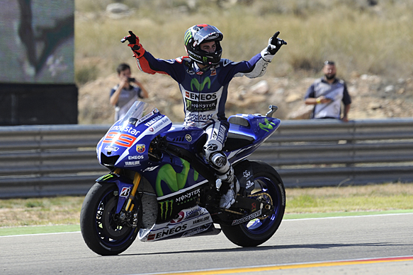 MOTOGP : Aragon, Spain- Jorge Lorenzo wins as Marc Marquez crashes out